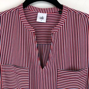 Cabi Tops - Cabi Striped Blouse Patriotic 5535 S